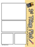 """Newsletter Template 3 First Grade - """"First Things First School Edition"""""""
