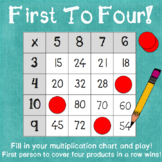 First To Four! A Differentiated Multiplication Practice Game
