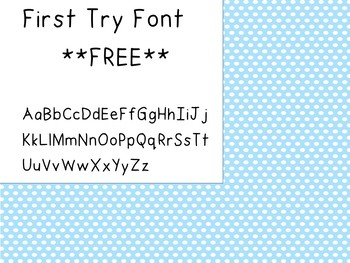 First Try Font