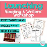 First 20 Days - Reading Workshop & Writing Workshop (Bundled) #startfreshbts
