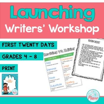 Writers' Workshop - First 20 Days (Comprehensive Guide) Back to School ELA