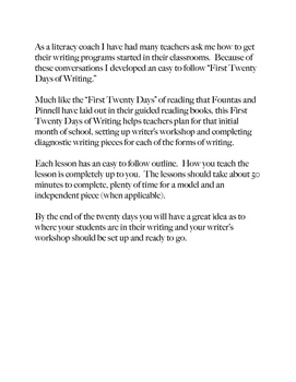 Writers' Workshop - First 20 Days (Comprehensive Guide) #luckydeals