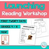 First 20 Days of Reading - Junior/ Intermediate ELA #startfreshbts