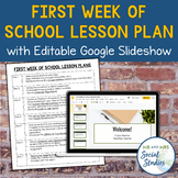First Two Weeks Plan for Middle School