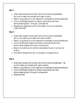 First Two Weeks of School Checklist.