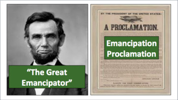 First Two Years of Civil War and Emancipation Proclamation (LP + Docs + PPT)