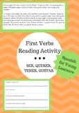 First Verbs Reading Activity: SER, TENER, QUERER, GUSTAR