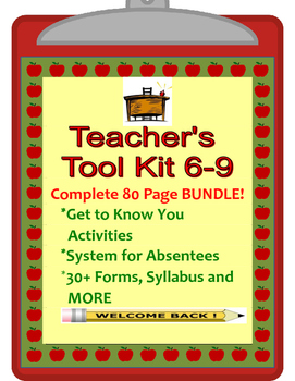 Back to School Forms, Get to Know You & More for Middle School