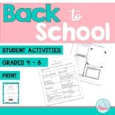 Back to School - 1st week activities #startfreshbts