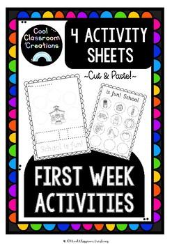 First Week Activities *Back to School*