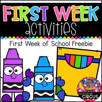 First Week Activities FREEBIE