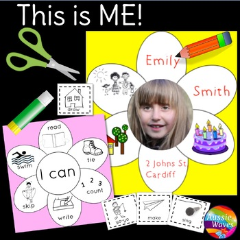 Back to School Activity All About Me for Young Students