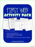 First Week Activity Pack