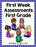 First Week Assessments-First Grade