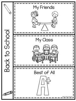 First Week BACK TO SCHOOL Activities K-1