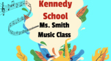 First Week Back ( Music Class) - Getting to Know You - Student Questionnaire