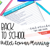 First Week Back to School Checklist & Digital Stickers