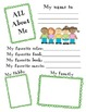 First Week Back to School Packet- 1st Grade