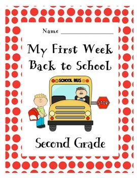First Week Back to School Packet- 2nd Grade