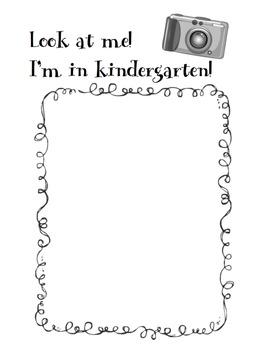 First Week Back to School Packet- Kindergarten
