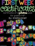 FREE First Week Certificates