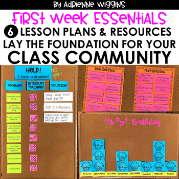 First Week Essentials: Classroom Community Lessons & Activities