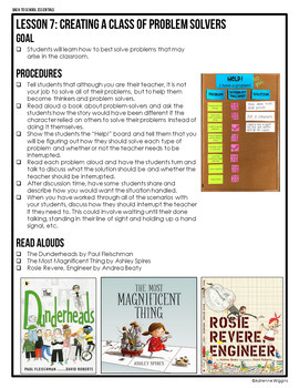 First Week Essentials: Classroom Community Lessons #5-10 & Activities