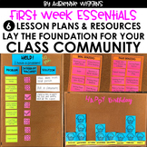 First Week Essentials: Classroom Community Lessons #5-10 &