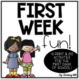 First Week Fun!