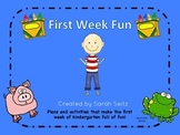 First Week Fun in Kindergarten