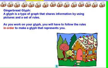 First Week Gingerbread House glyph (Virtual -ActiveInspire or Print out the PDF