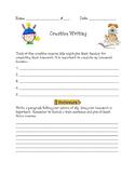 First Week Homework Activity