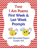 End or Start of School I Am Poem 4-8 W3d Descriptive Writing
