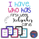 "First Week ""I have, who has"" Icebreaker Set"