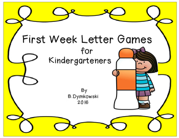 First Week Letter Games
