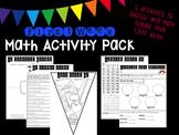 First Week Math Activity Pack