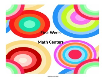 First Week Math Centers