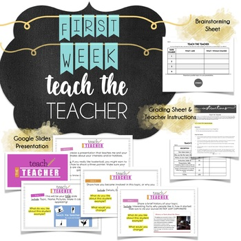 First Week Middle School Relationship Building Activity: Teach the Teacher
