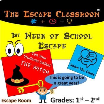 First Week Of School Escape Classroom (1st - 2nd Grade)