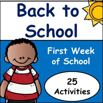 First Week Of School: Back To School Activities
