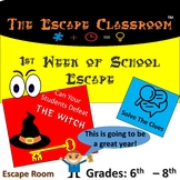 First Week Of School Escape Room (6th - 8th Grade) | The E