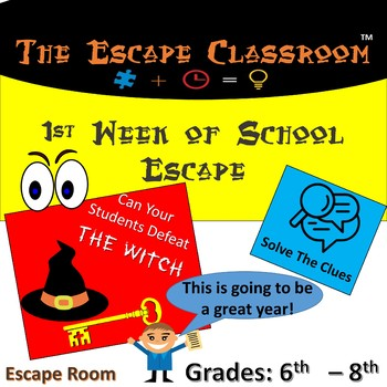 First Week Of School Escape Classroom (6th - 8th Grade)
