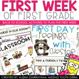 First Week Of First Grade | Back To School Activities