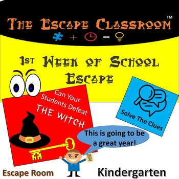 First Week Of School Escape Classroom (Kindergarten)