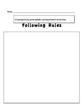 First Week Of School- Lessons for teaching rules and routines