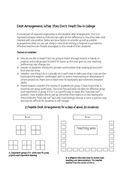 First Week Packet: Helpful Advice for New Teachers