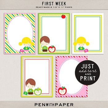 """First Week 