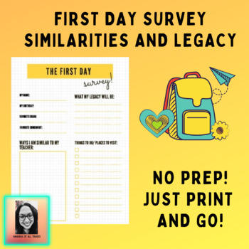 First Week Survey: Similarities and Legacy