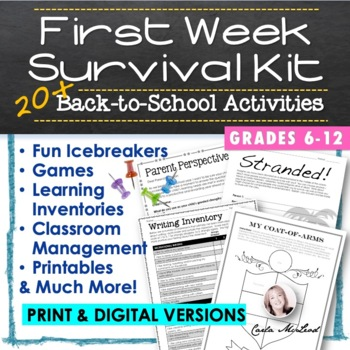 Back to School Survival Kit:  20+ First Week Activities and Learning Inventories