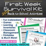 Back to School Activities: First Week Survival Kit